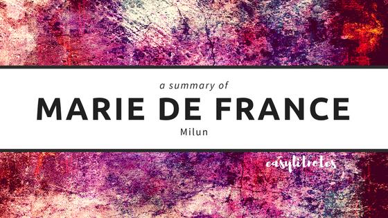 summary of marie de france's milun
