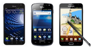 Samsung Galaxy S II Skyrocket HD, Exhilarate, Galaxy Note for AT&T