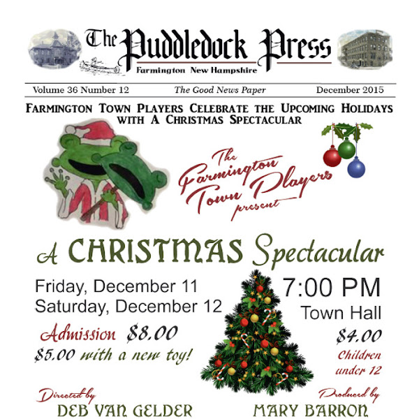 The December Puddledock Press is Out: Watch for it at your Favorite Distribution Site