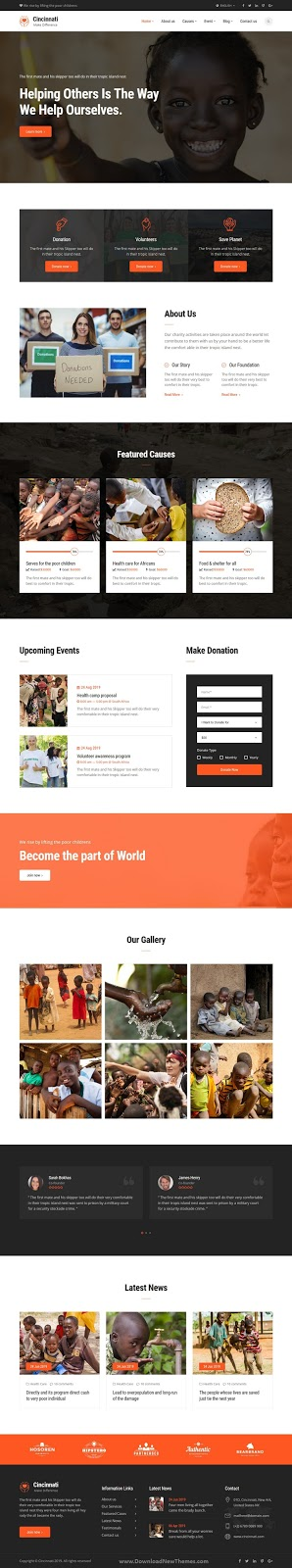 Charity Non-Profit HTML5 Template