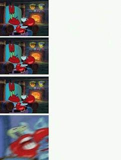 Polosan meme spongebob dan patrick 101 - tuan krab gila harta
