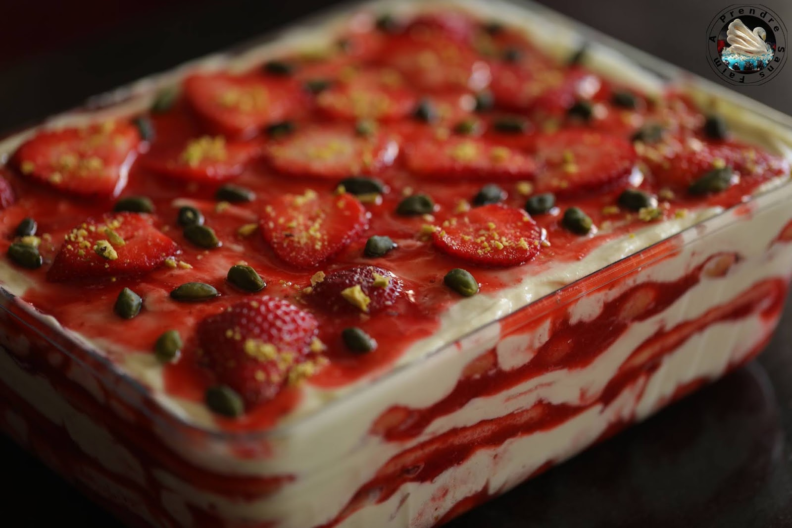 Tiramisu pistaches fraises