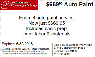 Coupon $669.95 Auto Paint Special June 2018