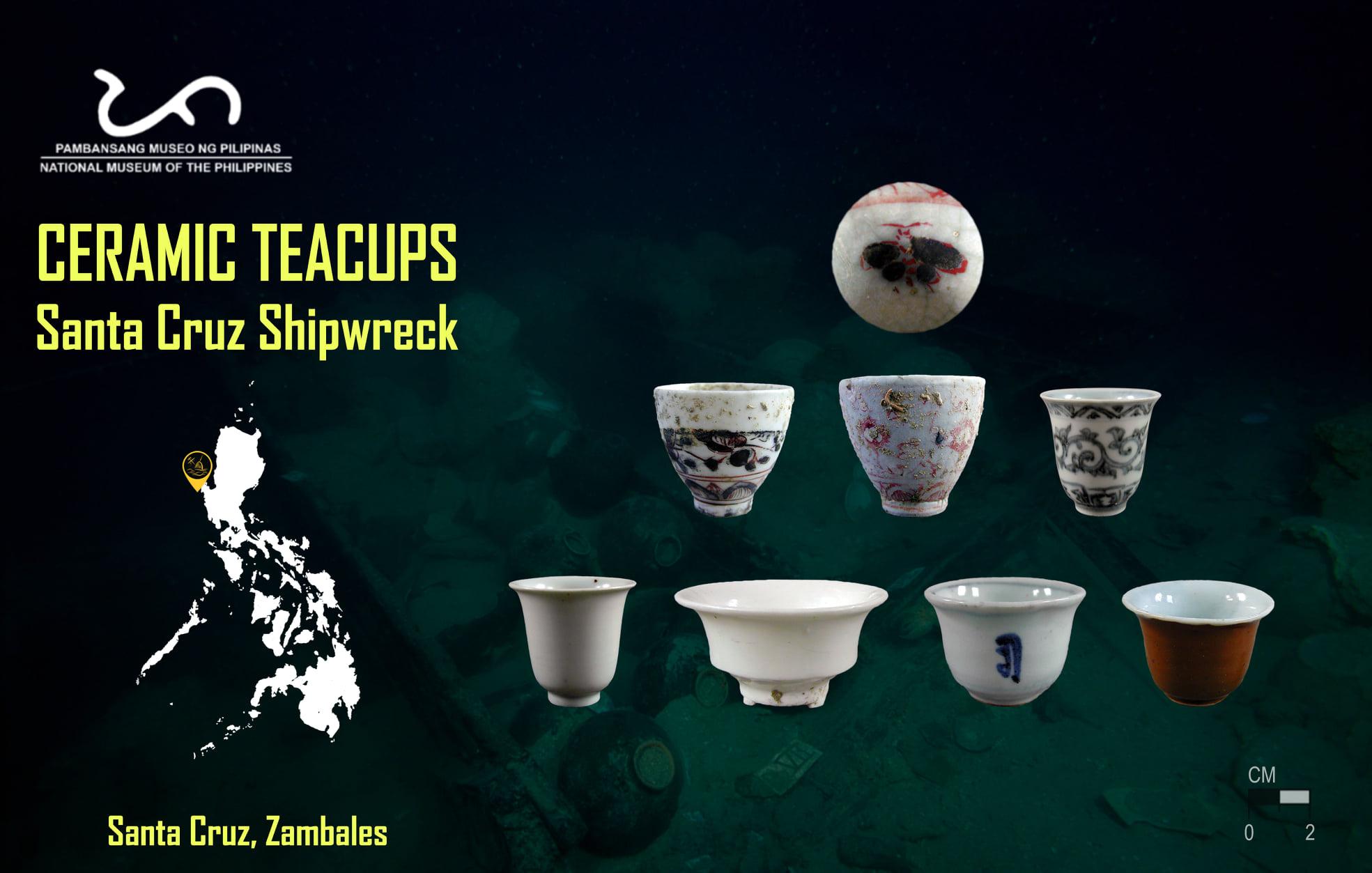 Chinese teacups of the Santa Cruz shipwreck