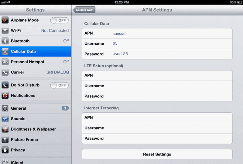 M1 APN Settings for iPad Blackberry Huawei Android iPhone
