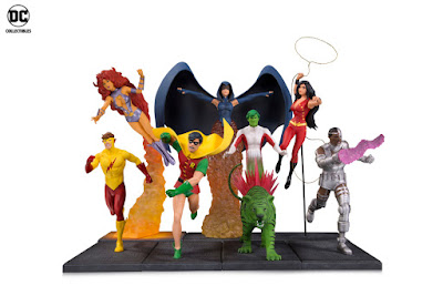 New Teen Titans Multi-Part Statue Set by George Perez x DC Comics