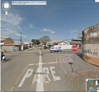 Google Street View flagra torcida do Paraná indo para o jogo