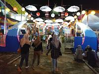 Gemerlap Hiasan Lampu di Anjungan Kabupaten Tanggamus di Lampung Fair