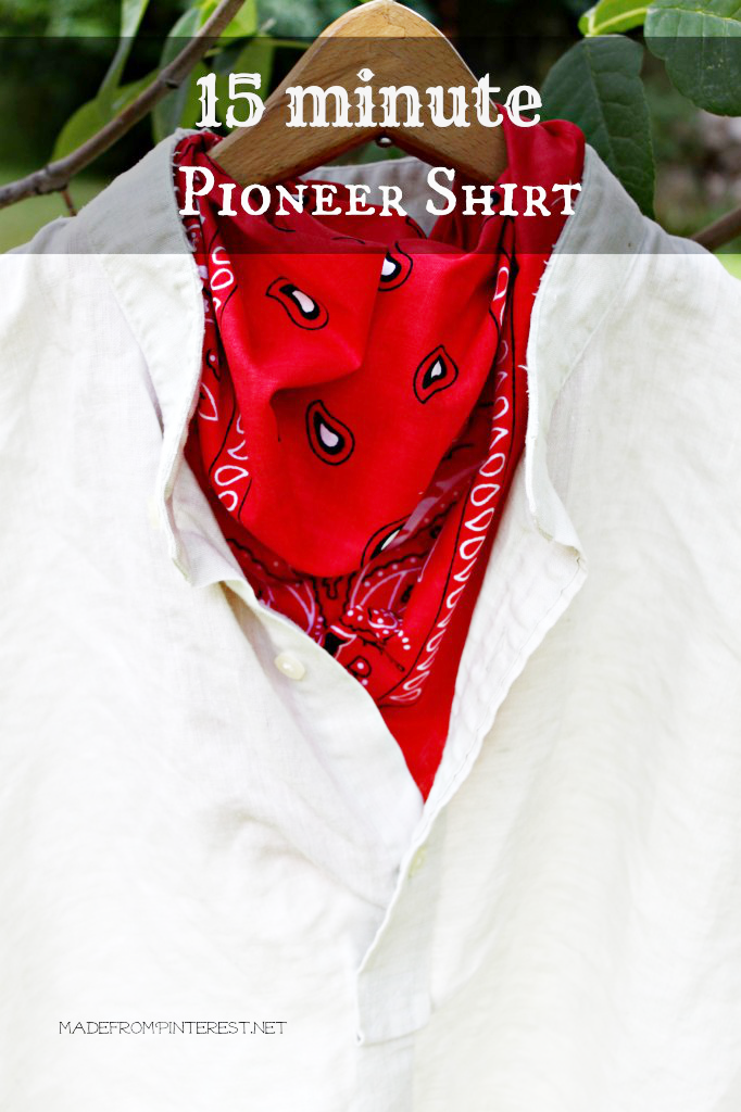 15 Minute Pioneer Shirt at Made From Pinterest