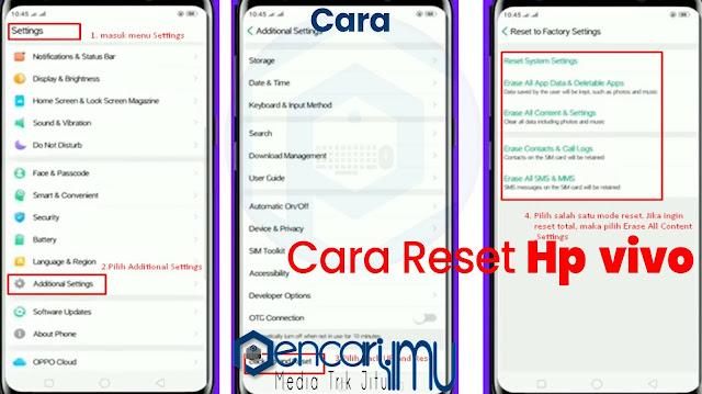 Cara Reset Hp Oppo Lupa Password 2021