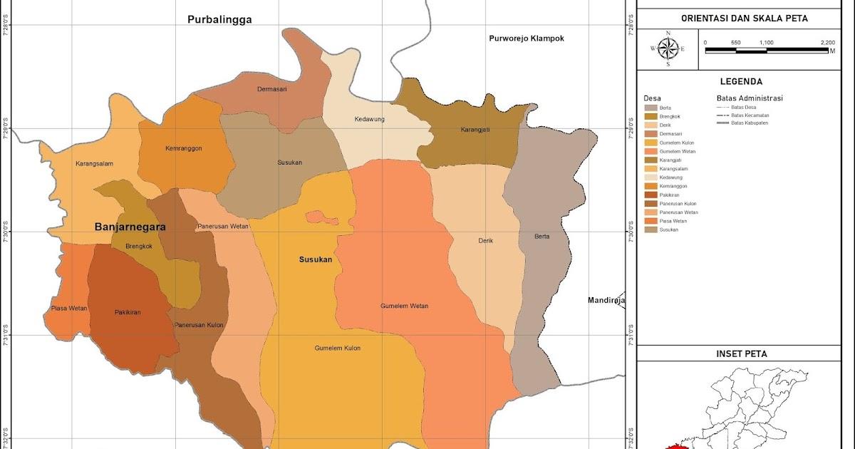Peta Administrasi Kecamatan Susukan, Kabupaten ...