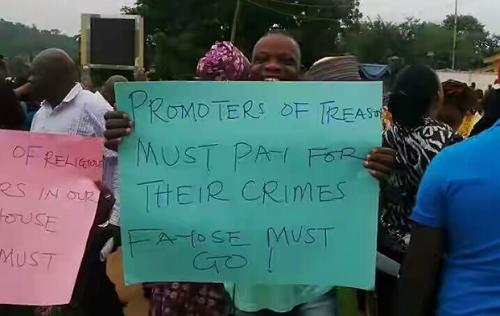 Ekiti people Protest Against Fayose