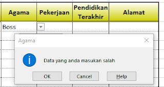 Cara Buat Menu Drop Down pada Excel
