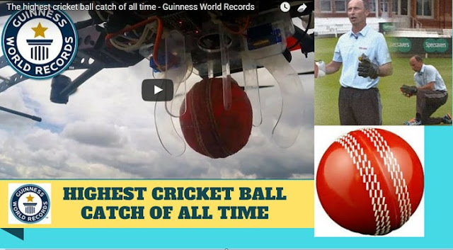 Highest cricket ball catch of all time - Guinness World Record