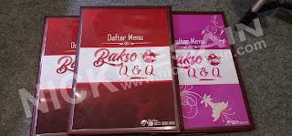 Contoh Desain List Menu / Buku Menu/ Daftar Menu Caffe Bakso MAroon | Percetakan Murah Tanjungbalai