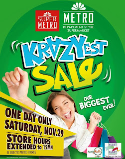 Manila Shopper Metro One Day Crazy Sale Nov 29 2014
