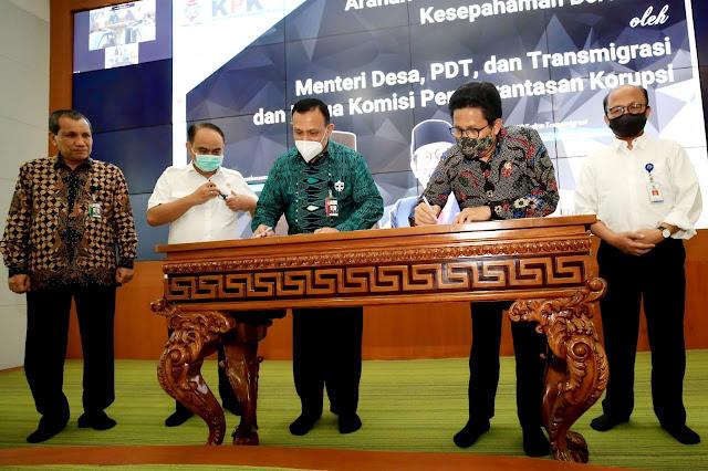 Berantas Korupsi di Desa, Kemendes PDTT Gandeng KPK
