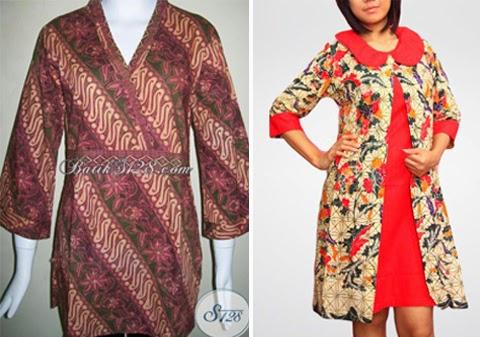 16 Model Baju Batik Kantor Wanita Gemuk Terbaik  ffb9aa38dd
