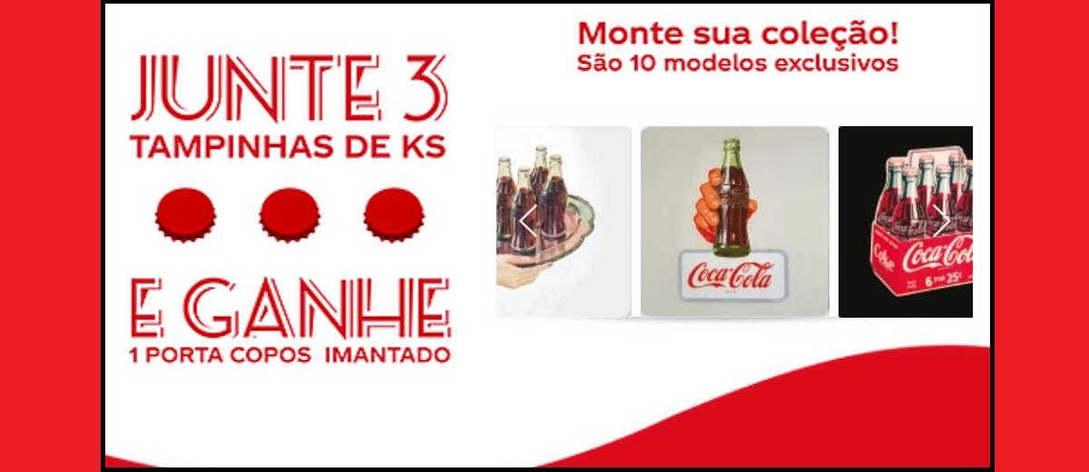 Ganhe Brinde Grátis Porta Copos Imantado Coca-Cola Para Colecionar