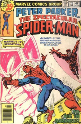 Spectacular Spider-Man #26, Daredevil and the Masked Marauder