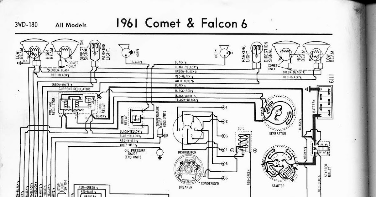 Free Auto Wiring Diagram: 1961 Ford Falcon & Comet Wiring Diagram