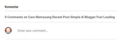 poskan komentar blog