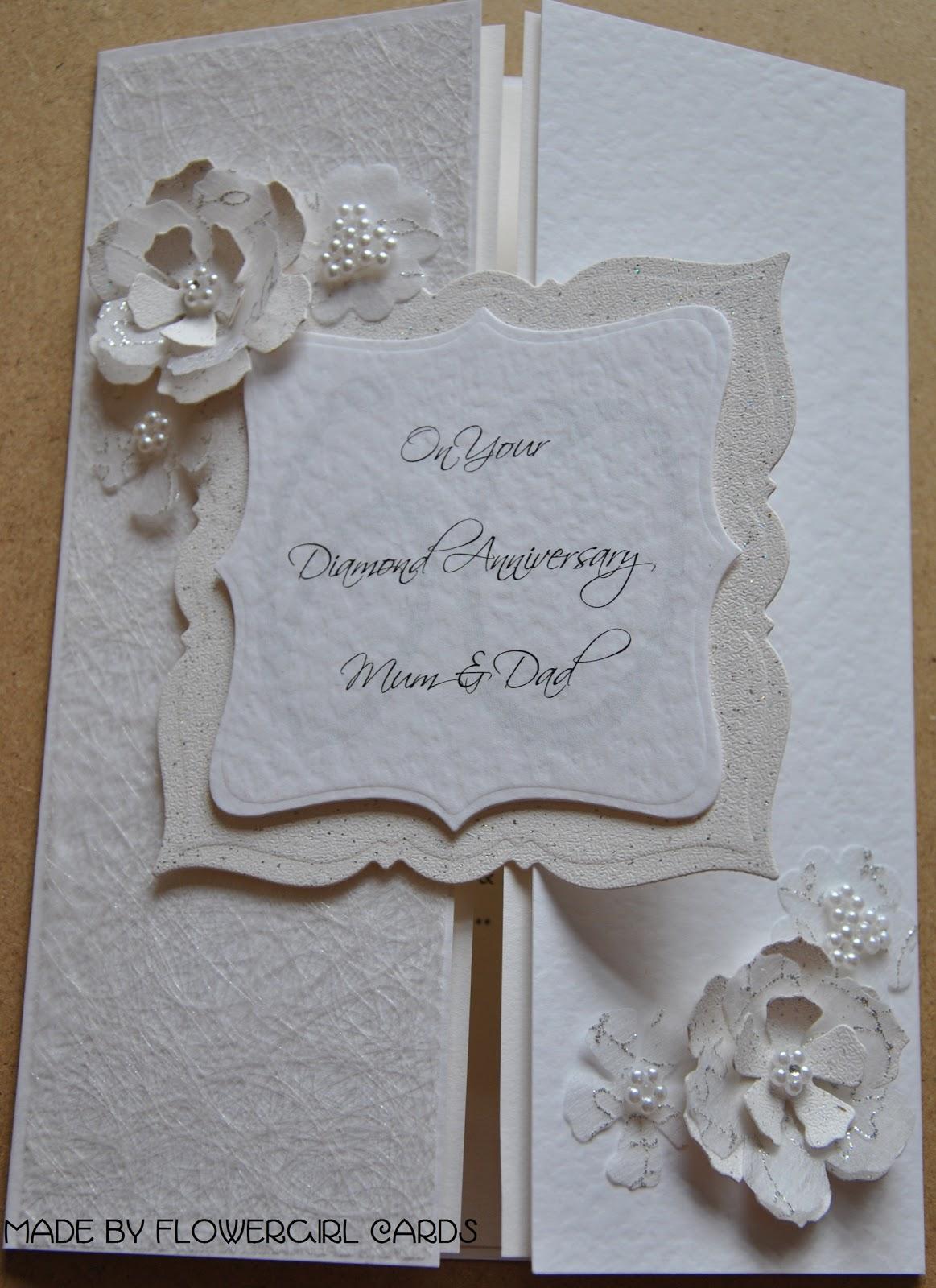 flowergirl cards diamond anniversary card