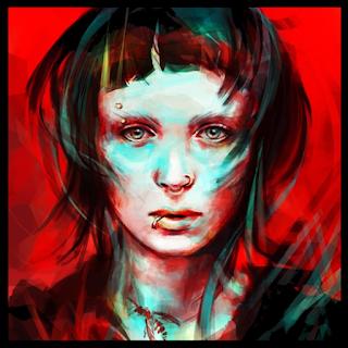Uma imagem artística de Lisbeth Salander