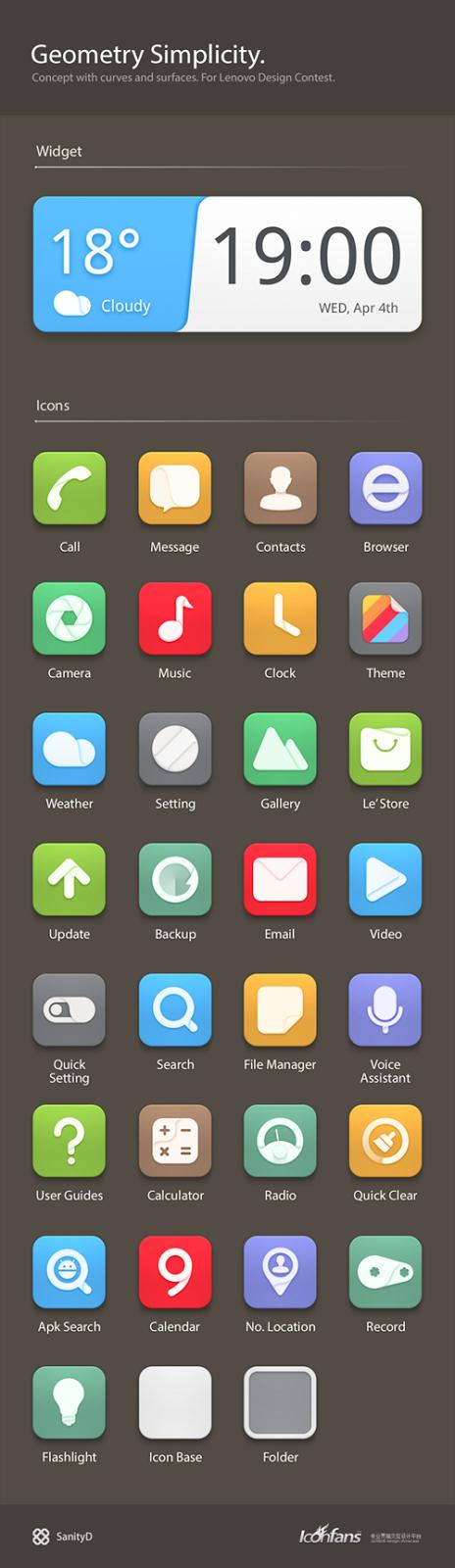 Flat Design Icons Sets