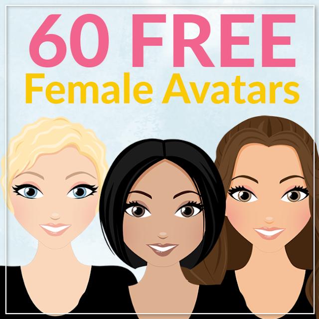 60 free female avatar clipart graphics