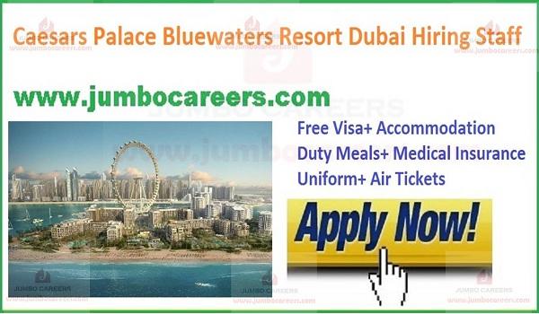 Caesars Palace Bluewaters Resort Dubai Career and Latest Jobs