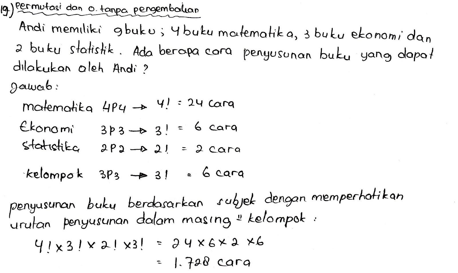 13/04/2013· by syaharuddin al musthafa on 4/13/2013 11:21:00 am in kumpulan kunci jawaban soal buku metode statistika karangan sudjana. Contoh Soal Dan Jawaban Statistik Ekonomi 2