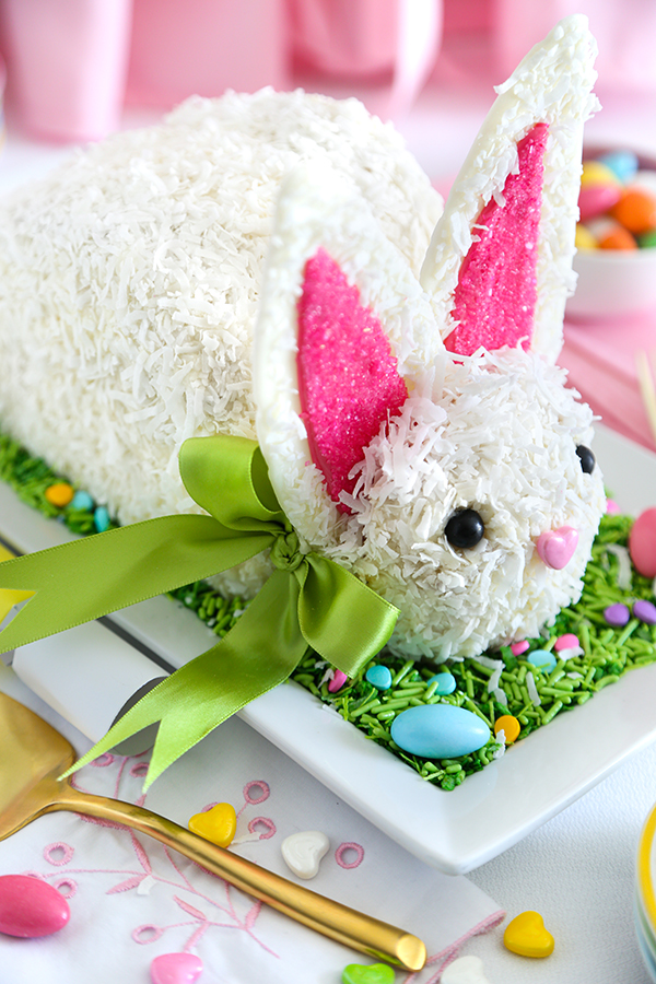 Old School Coconut Easter Bunny Cake