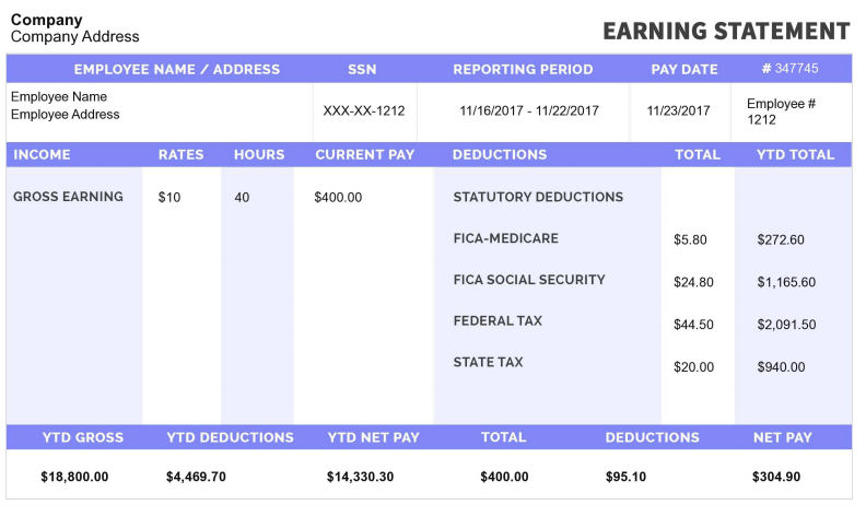 Free Printable Pay Stubs Online