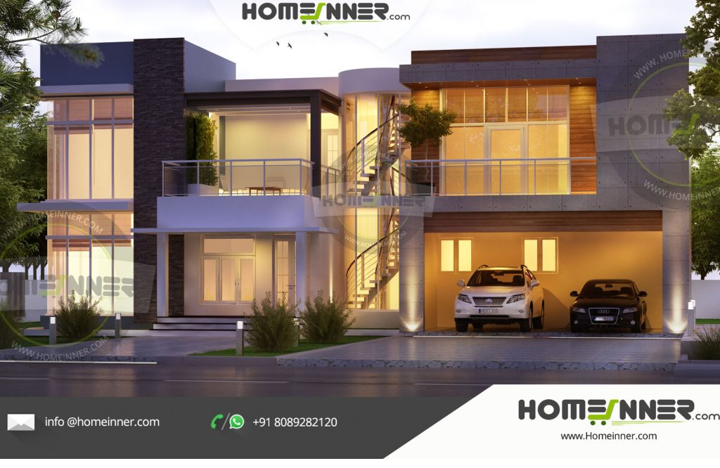 contemporary home design, Home plans, 3200 sq ft Home Design, house plans in kerala, luxury home design,