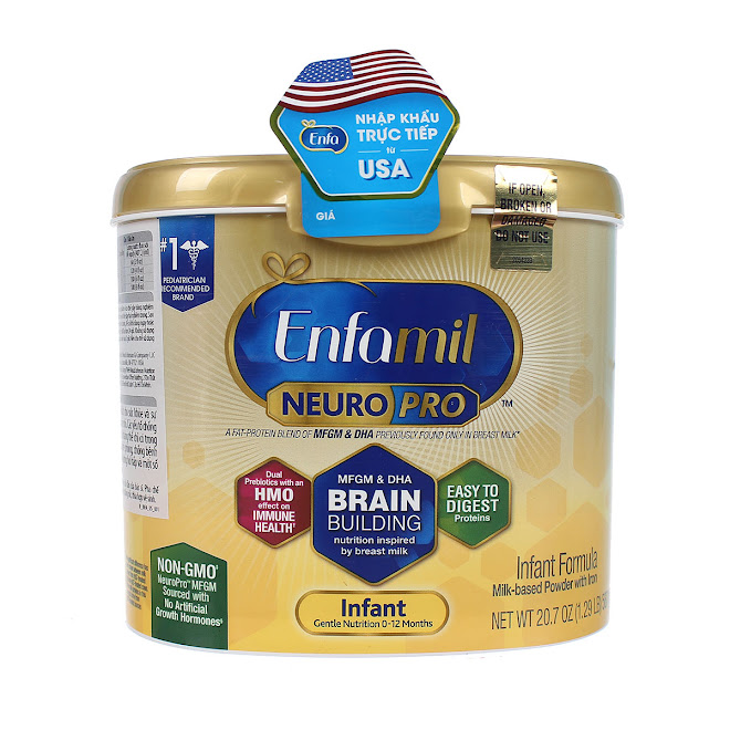 Sữa Bột Enfamil NeuroPro Infant Formula 598g – Mỹ Cho Bé Từ 0 - 12 tháng