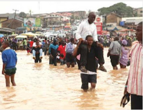 1 Rainfall in Lagos, photos of the After effect