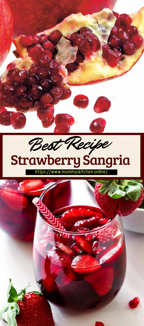 Strawberry Sangria #healthydrink #easyrecipe #cocktail #smoothie