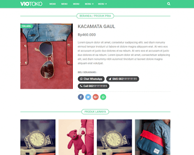 VioToko Premium Blogger Template