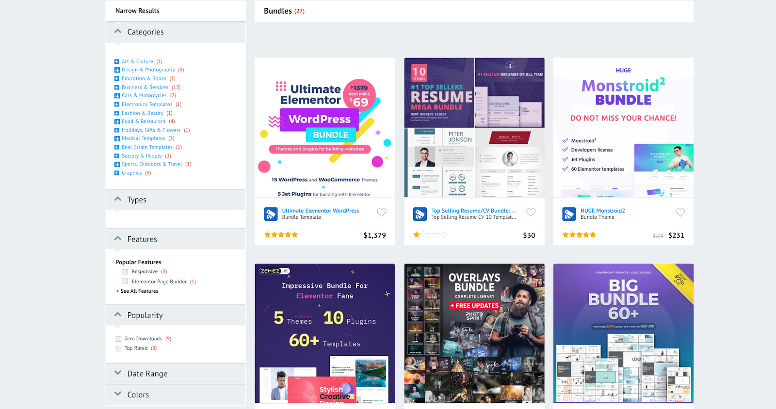 Bundles are a great solution for web designers