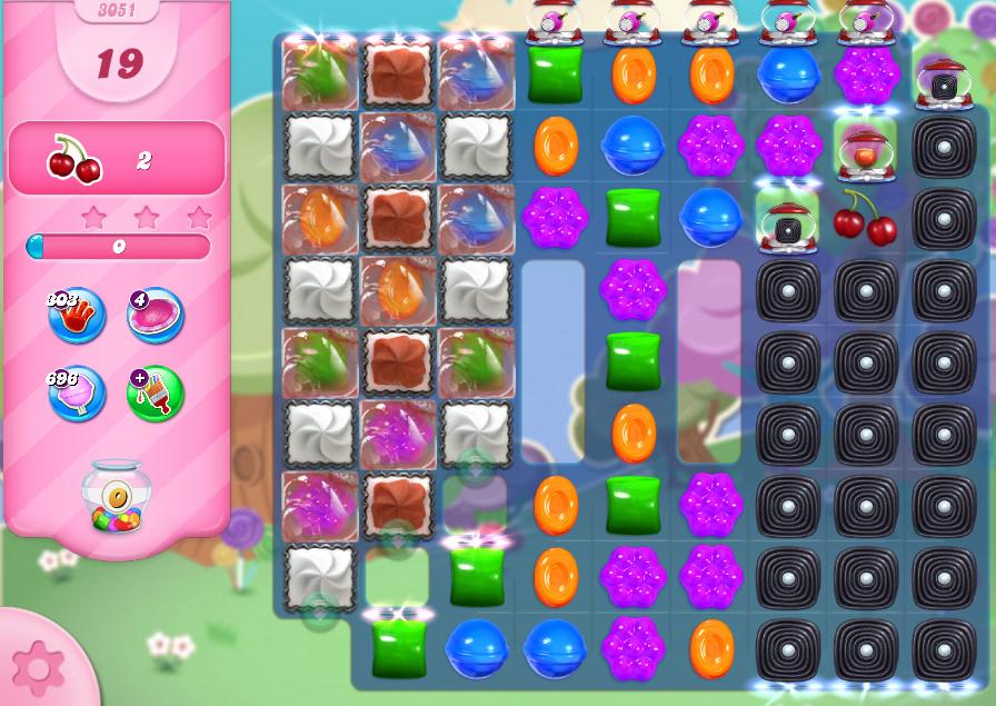 Candy Crush Saga level 3051