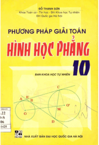 Phương Pháp Giải Toán Hình Học Phẳng 10 - Đỗ Thanh Sơn