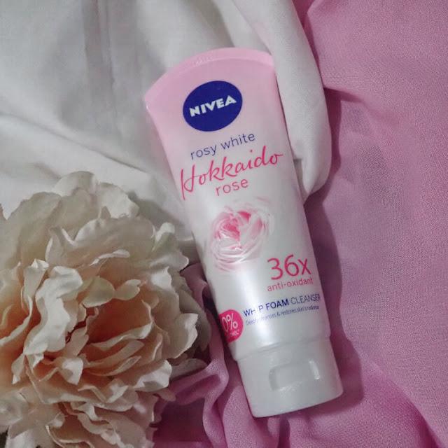 nivea hokkaido rose whip foam