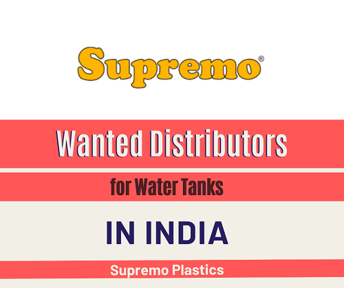 Wanted Distributors for Water Tanks in India