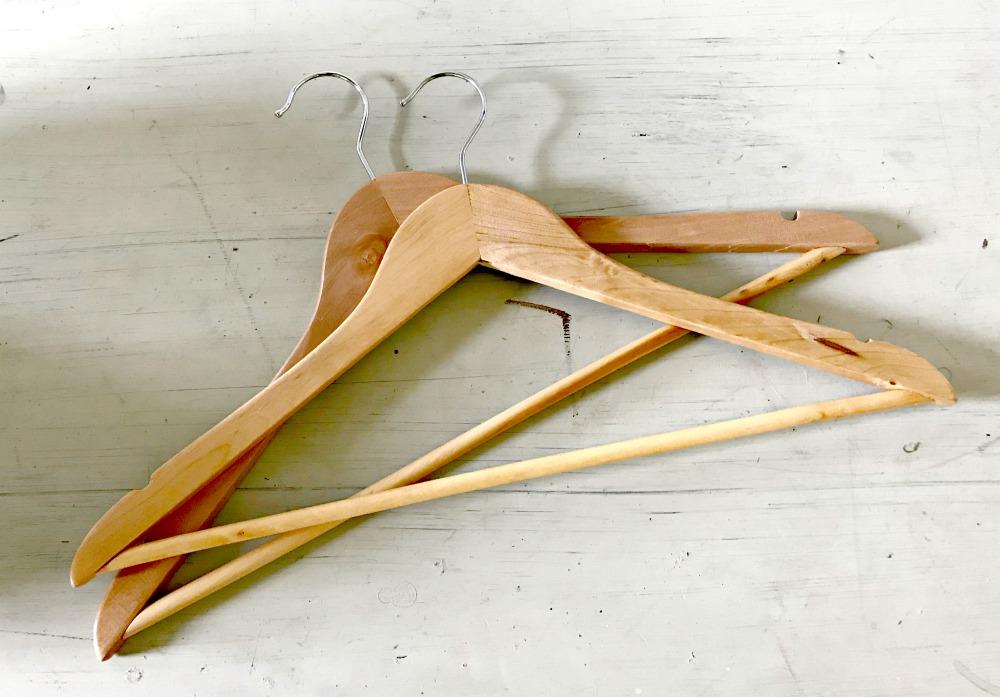 wooden hangers diy