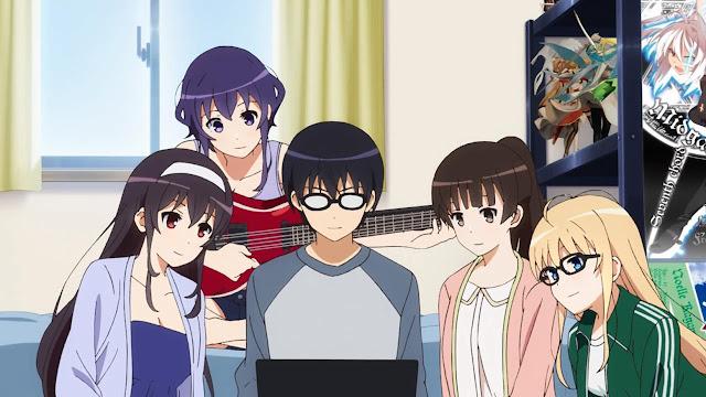 Saenai%2BHeroine%2Bno%2BSodatekata 30 Rekomendasi Anime Harem Terbaik