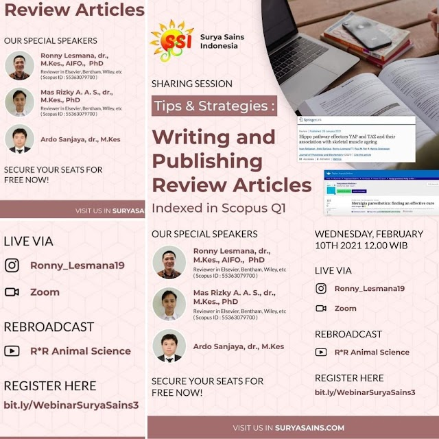 """Free Webinar """"Tips and Strategies: Writing and Publishing Review Articles Indexed in Scopus Q1"""""""