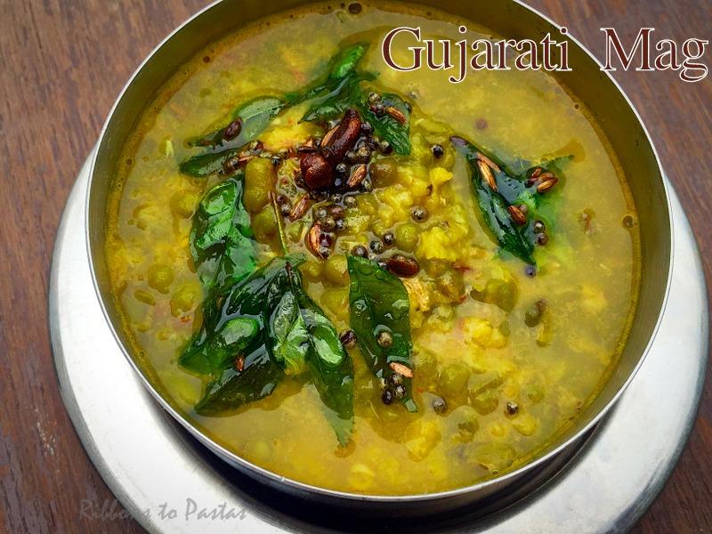 Gujarati Mag Moong Beans Gujju Style Ribbons To Pastas