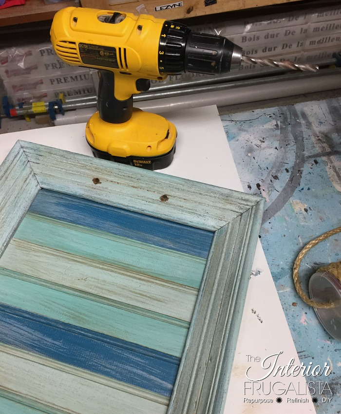 Picture Frame Serving Tray Rope Handle Holes