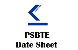 PSBTE Date Sheet 2020